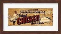 Framed Retro Diner Chicken