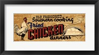 Framed Retro Diner Chicken