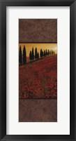 Framed Poppy Field Panel II