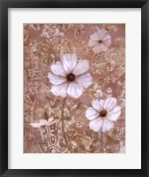 Framed Lace Flowers I