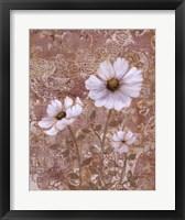 Lace Flowers II Framed Print