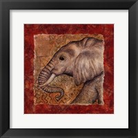 Elephant Safari Framed Print