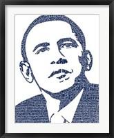 Framed Barack Obama - Words into Image