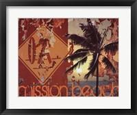 Framed Mission Beach