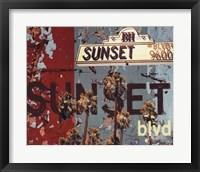 Framed Sunset Blvd