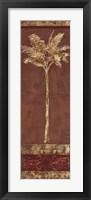 Framed Gilded Palm I