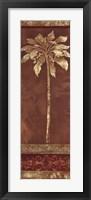 Framed Gilded Palm II