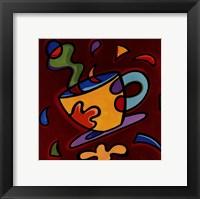 Framed Red Coffee Mug
