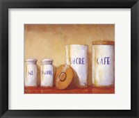 Kitchen Canisters Framed Print