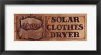 Framed Solar Clothes Dryer