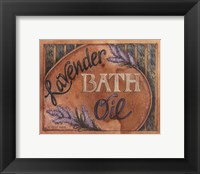Framed Lavender Bath Oil