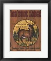 Framed Big Buck Lodge