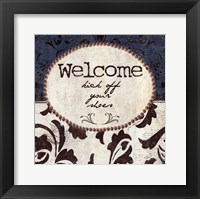Framed Welcome - Kick Off Your Shoes