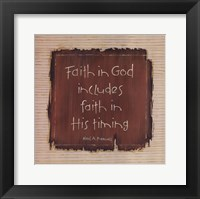 Framed Faith In God