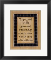 Framed To Three Things