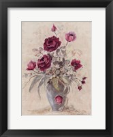 Framed Crimson Roses l