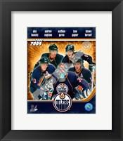 Framed 2008-09 Edmonton Oilers Team Composite