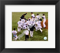 Framed Tampa Bay Rays celebrate Game 7 of the 2008 ALCS