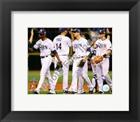 Framed Tampa Bay Rays Celebrate Game two of the 2008 MLB World Series