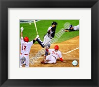 Framed Eric Bruntlett Game three of the 2008 MLB World Series Game Winning Run