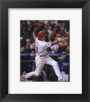 Framed Jayson Werth Game four of the 2008 MLB World Series