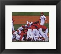 Framed 2008 Philadelphia Phillies World Series Champions Team Celebration Horizontal