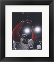 Framed Ryan Howard with 2008 World Series Trophy
