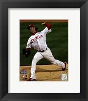 Framed Cole Hamels Game 5 of the 2008 World Series