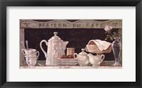 Framed Maison Du Cafe