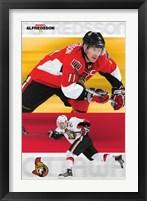 Framed Senators - Daniel Alfredsson 08
