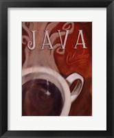 Java Columbia Framed Print