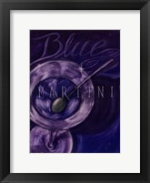 Framed Blue Martini