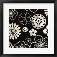 Framed Silver Floral Cascade III