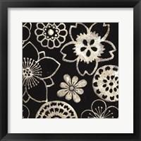 Silver Floral Cascade IV Framed Print