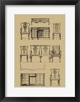 Framed English Chippendale Furniture