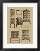 Framed English Baroque Furniture