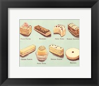 Framed Fanciful Cakes & Tarts I