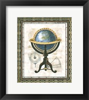 Framed Traditional Globe I