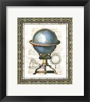 Framed Traditional Globe II