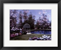Framed Lakeside Gazebo