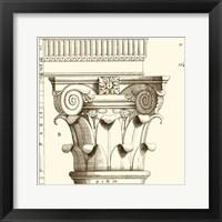 Corinthian Detail I Framed Print