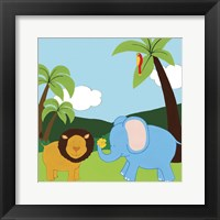 Jungle Jamboree IV Framed Print