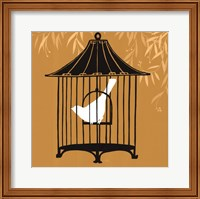 Framed Birdcage Silhouette I