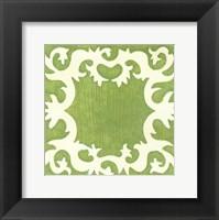 Petite Suzani in Green Framed Print