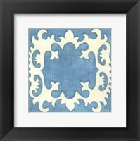 Petite Suzani in Blue Framed Print
