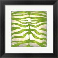 Vibrant Zebra III Framed Print