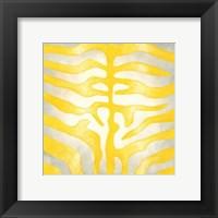 Vibrant Zebra IV Framed Print