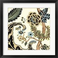 Jacobean Tile I Framed Print