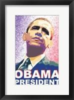 Framed Barack Obama - (President) Campaign Poster