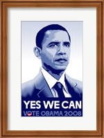 Framed Barack Obama - (Yes We Can) Campaign Poster
